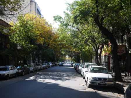 Pretty street between Corrientes and Murillo